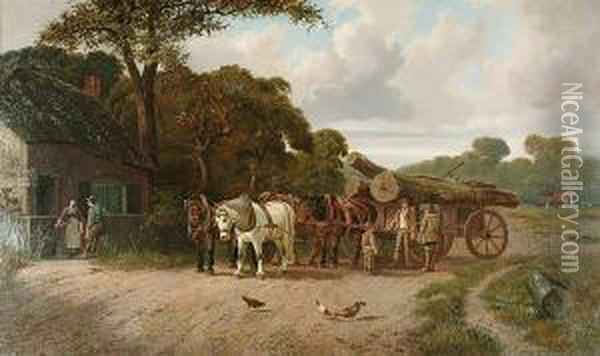 A Perfect Day Oil Painting - Joseph Clark