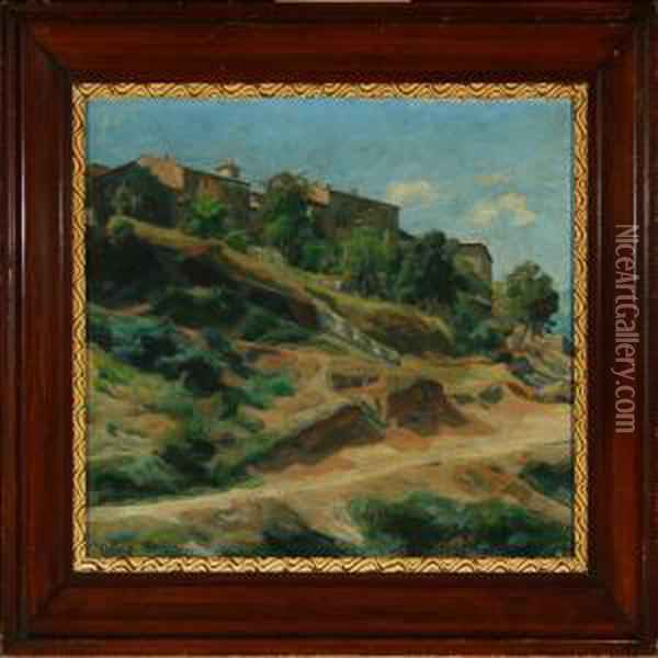 Scenery From Civita D'antino Oil Painting - Gad Frederik Clement