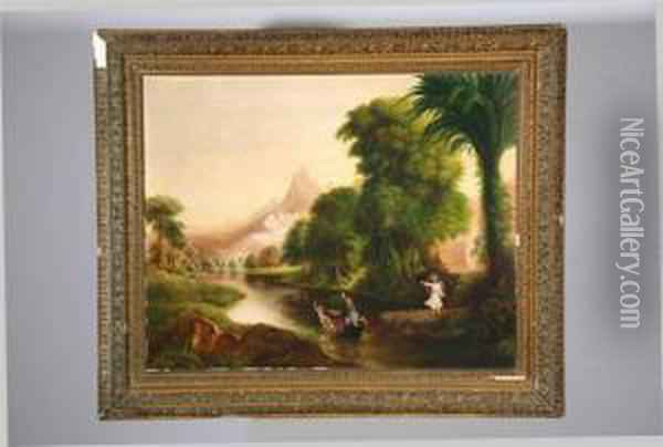 The Voyage Of Life: Youth Oil Painting - Thomas Cole