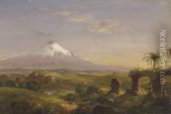 View Of Mount Etna Oil Painting - Thomas Cole