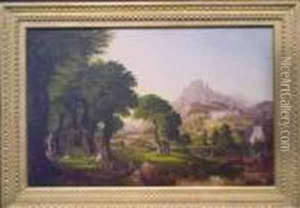 Dream Of Arcadia Oil Painting - Thomas Cole