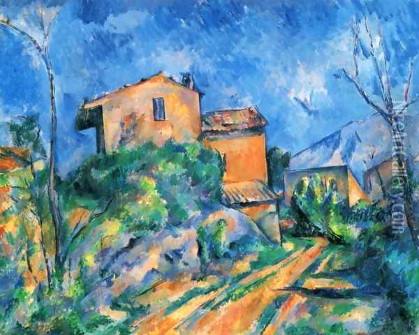 Maison Maria at the way to the Château Noir Oil Painting - Paul Cezanne