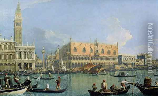 Ducal Palace, Venice, c.1755 Oil Painting - (Giovanni Antonio Canal) Canaletto