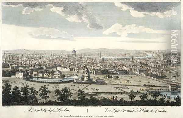 A North View of London, plate 3 from 'Views of London', 1794 Oil Painting - (Giovanni Antonio Canal) Canaletto
