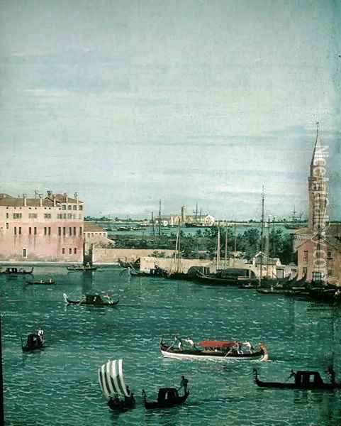 Bacino di San Marco, Venice, 1734-40 (detail-2) Oil Painting - (Giovanni Antonio Canal) Canaletto