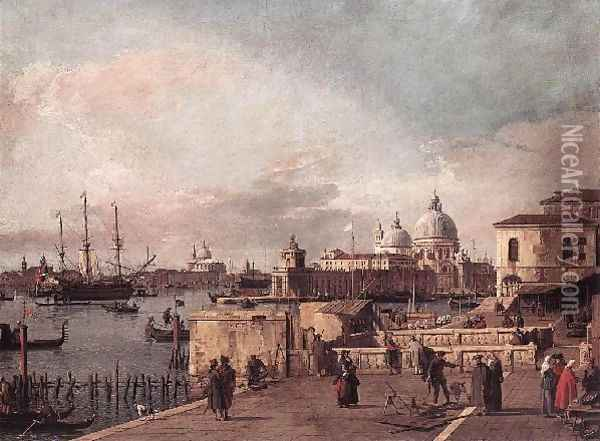 Entrance to the Grand Canal- from the West End of the Molo 1735-40 Oil Painting - (Giovanni Antonio Canal) Canaletto