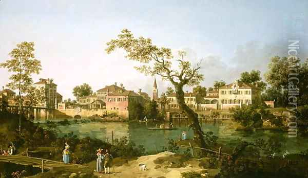 Padua Oil Painting - (Giovanni Antonio Canal) Canaletto