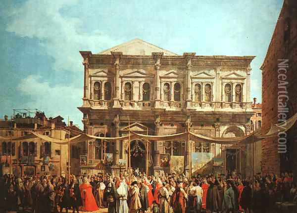 The Feast Day Of St Roch Oil Painting - (Giovanni Antonio Canal) Canaletto
