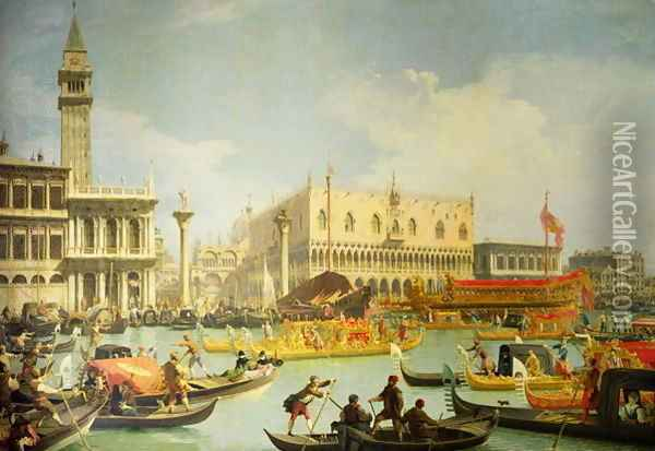 The Betrothal of the Venetian Doge to the Adriatic Sea, c.1739-30 Oil Painting - (Giovanni Antonio Canal) Canaletto