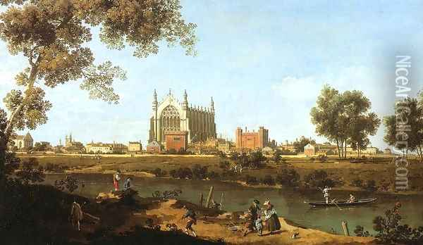 The Chapel of Eton College Oil Painting - (Giovanni Antonio Canal) Canaletto