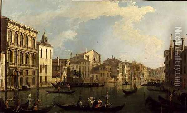 Venice- the Grand Canal from the Palazzo Flangini to S. Marcuolo Oil Painting - (Giovanni Antonio Canal) Canaletto
