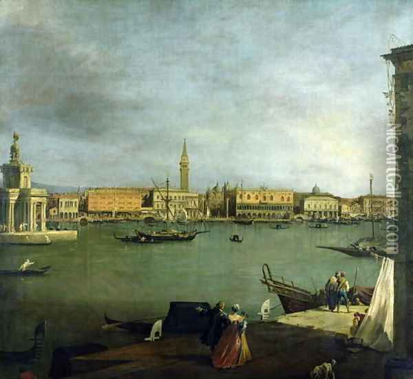 The Bacino di San Marco Looking North Oil Painting - (Giovanni Antonio Canal) Canaletto