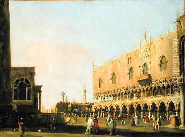 View of the Piazzetta San Marco Looking South, c.1735 Oil Painting - (Giovanni Antonio Canal) Canaletto