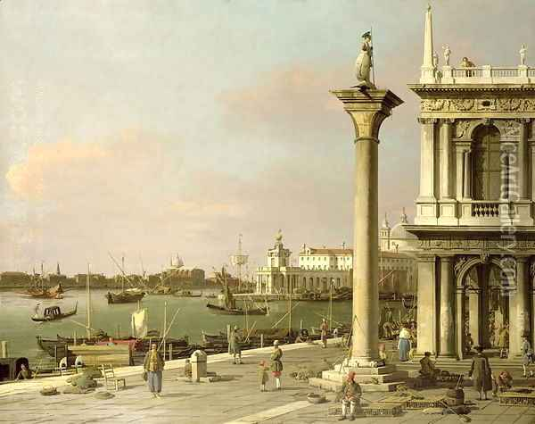 View of The Entrance to the Grand Canal from the Piazzetta Oil Painting - (Giovanni Antonio Canal) Canaletto