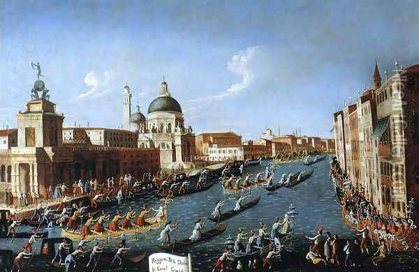 The Women's Regatta on the Grand Canal Oil Painting - (Giovanni Antonio Canal) Canaletto