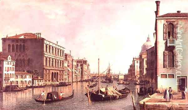 The Grand Canal, Venice (2) Oil Painting - (Giovanni Antonio Canal) Canaletto