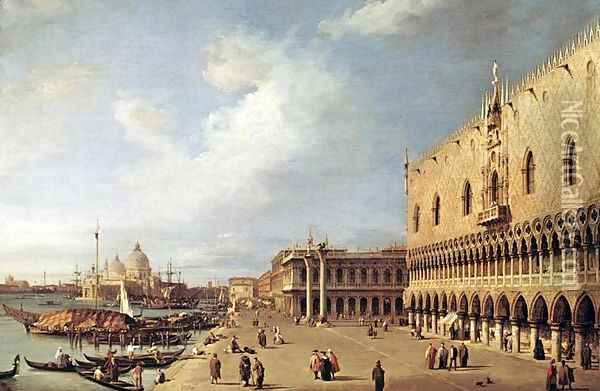 View of the Ducal Palace Oil Painting - (Giovanni Antonio Canal) Canaletto