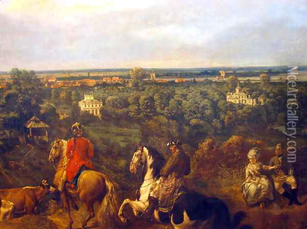 view on Lazienki in Warsaw Oil Painting - (Giovanni Antonio Canal) Canaletto
