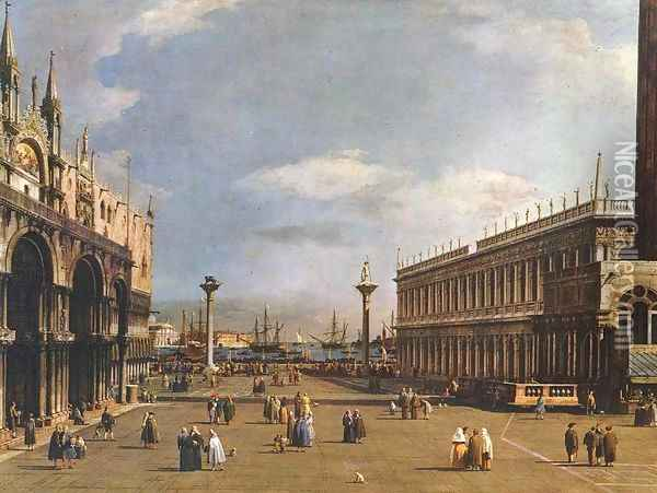 The Piazzetta 2 Oil Painting - (Giovanni Antonio Canal) Canaletto