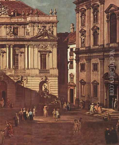 View from Vienna, the square in front of the University of South-East, detail Oil Painting - (Giovanni Antonio Canal) Canaletto