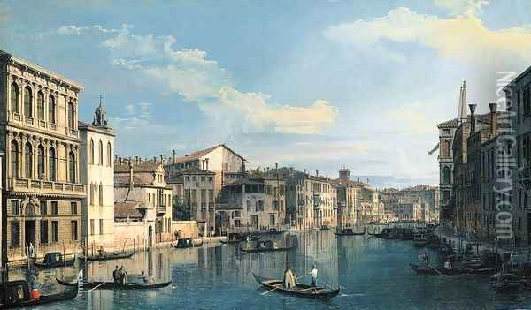 Venice The Grand Canal from Palazzo Flangini to the Church of San Marcuola Oil Painting - (Giovanni Antonio Canal) Canaletto