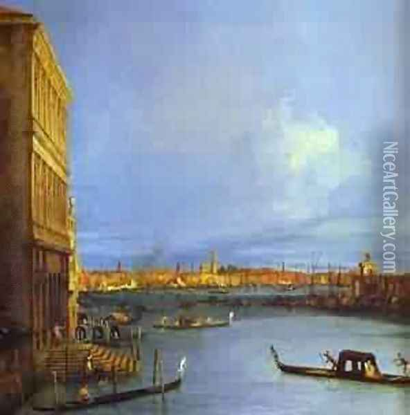 Santa Maria Della Salute Seen From The Grand Canal 1730 Oil Painting - (Giovanni Antonio Canal) Canaletto