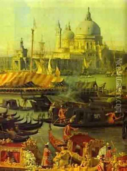 The Reception Of The French Ambassador In Venice Detail 1740 Oil Painting - (Giovanni Antonio Canal) Canaletto