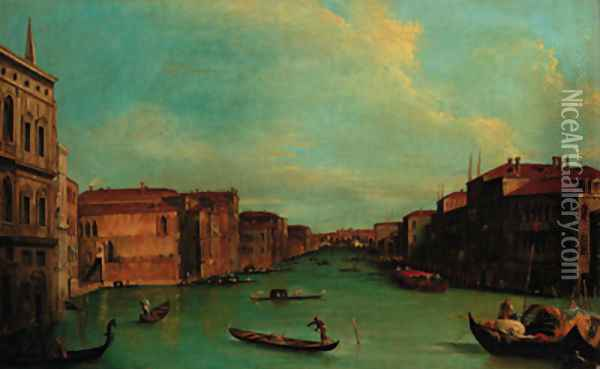 The Grand Canal, Venice with Palazzo Balbi Oil Painting - (Giovanni Antonio Canal) Canaletto