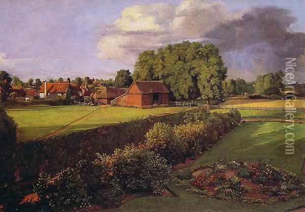 Golding Constable's Flower Garden Oil Painting - John Constable