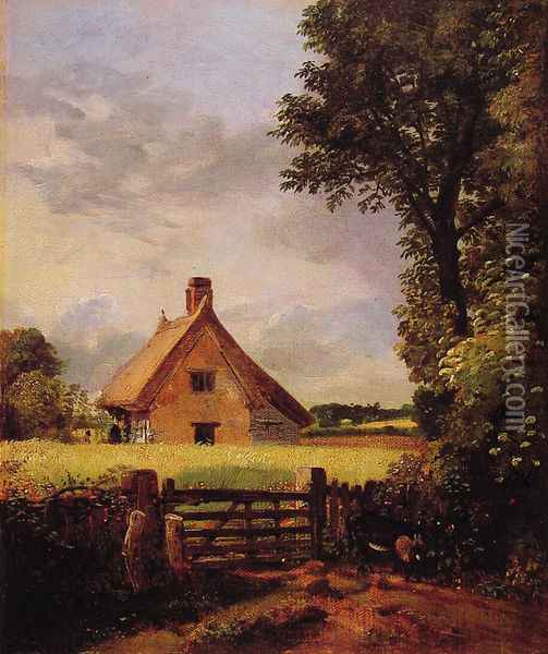 A Cottage in a Cornfield, 1817 Oil Painting - John Constable