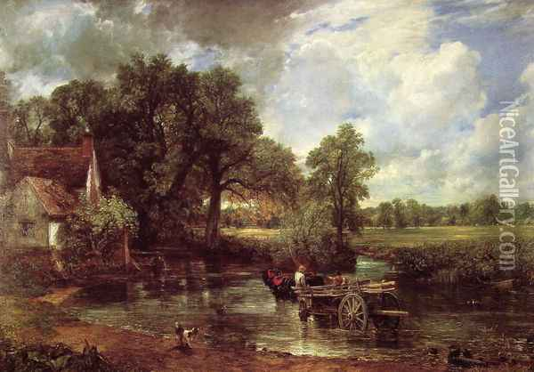 The Hay Wain, 1821 Oil Painting - John Constable