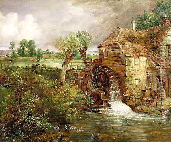 Mill at Gillingham, Dorset, 1825-26 Oil Painting - John Constable