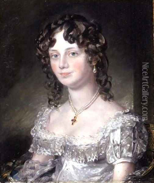 Portrait of Mrs Mary Fisher, wife of John Fisher, Archdeacon of Berkshire, 1816 Oil Painting - John Constable