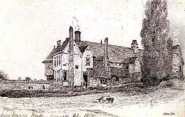 Overbury Hall, Suffolk, 1815 Oil Painting - John Constable