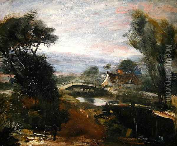 A View near Flatford Mill Oil Painting - John Constable