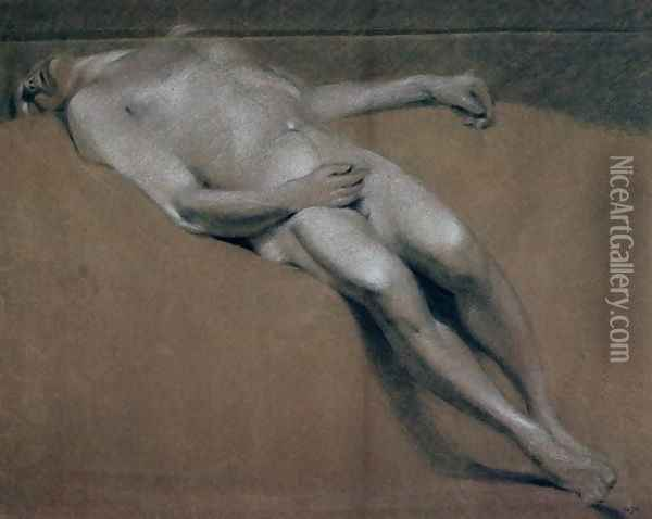 Study of a recumbent male nude Oil Painting - John Constable