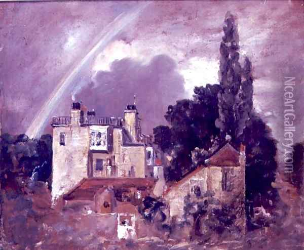 The Grove or Admiral's House, Hampstead, c.1821-22 Oil Painting - John Constable
