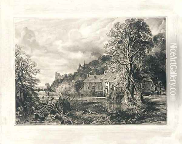 Arundel Mill and Castle, 1835 Oil Painting - John Constable