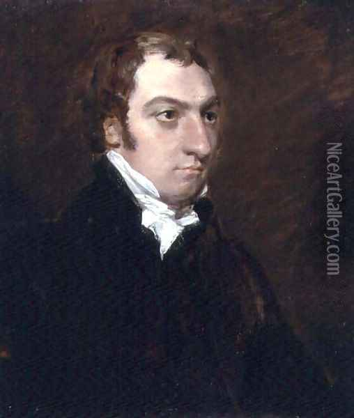 Portrait of John Fisher, Archdeacon of Berkshire, 1816 Oil Painting - John Constable
