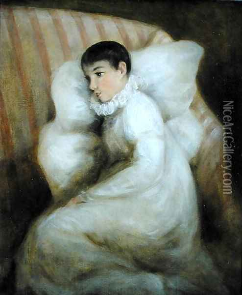 Young Girl resting on a Sofa Oil Painting - John Constable