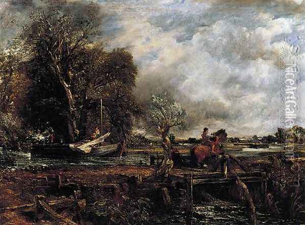 The Leaping Horse, c.1825 Oil Painting - John Constable