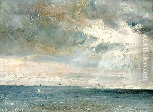 Study of Sea and Sky ( A Storm off the South Coast) Oil Painting - John Constable
