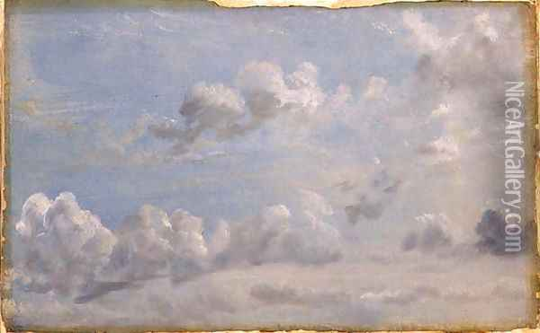 Study of Cumulus Clouds, 1822 Oil Painting - John Constable