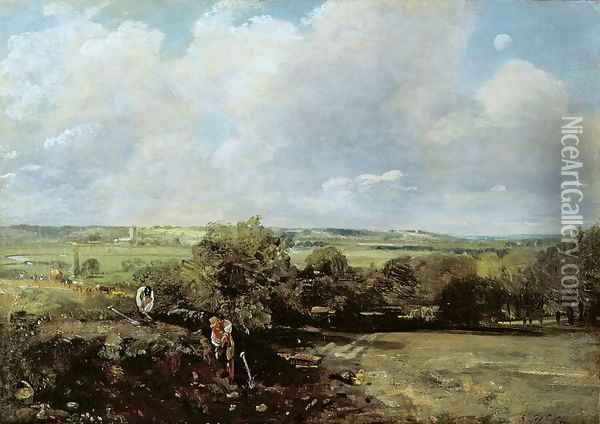 The Vale of Dedham, 1814 Oil Painting - John Constable