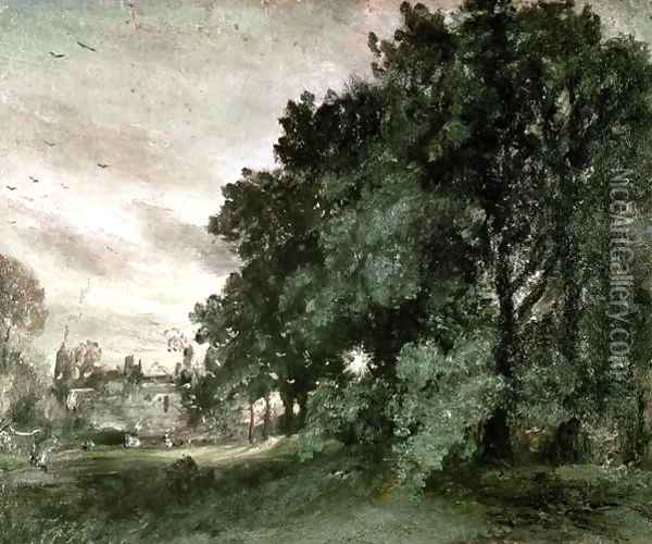 Study of Trees Oil Painting - John Constable