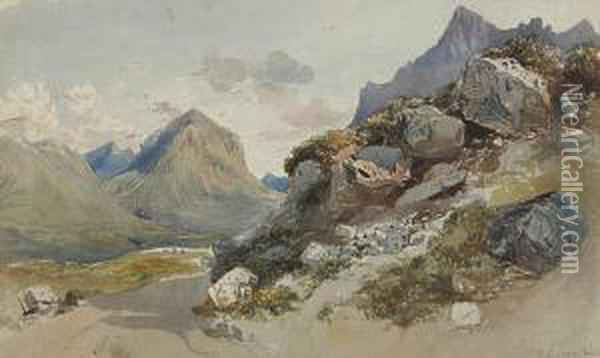The Cuillins Oil Painting - William Collingwood Smith