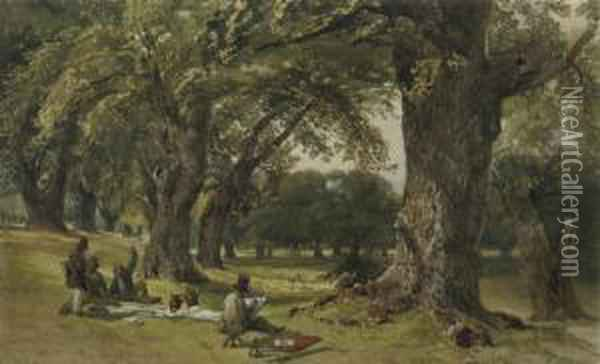 Drawing 'en Plein Air' Oil Painting - William Collingwood Smith