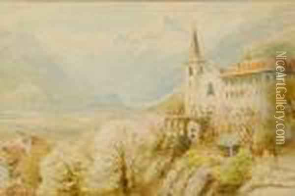 Entrance To The St.gothard Pass From Bellinzona Oil Painting - Ebenezer Wake Cook