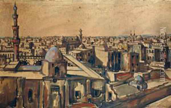 Le Caire  Oil Painting - Charles Cottet