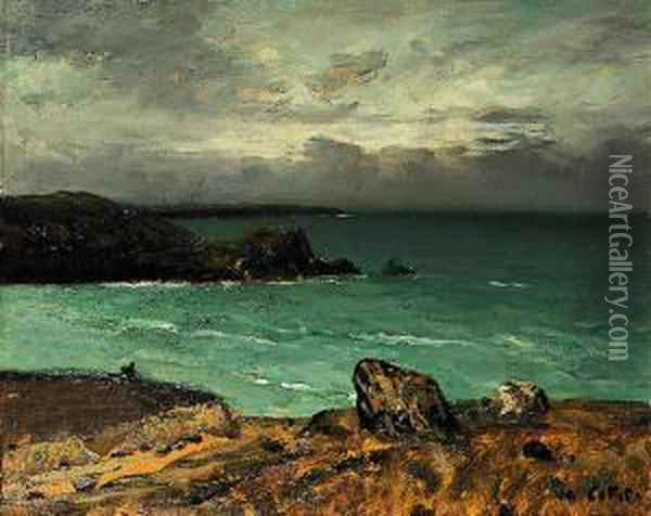 La Cote Rocheuse Oil Painting - Charles Cottet